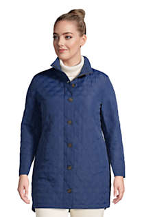 Women's Plus Size Insulated Packable Quilted Barn Coat, Front