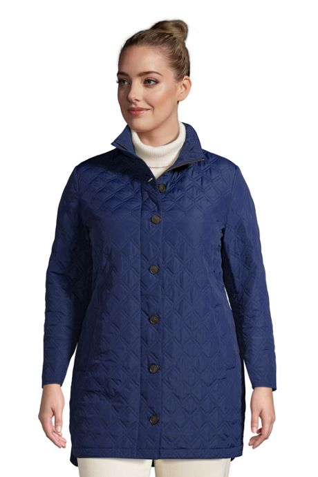 Women's Plus Size Insulated Packable Quilted Barn Coat