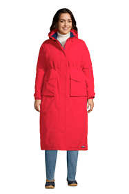 Women's Plus Size Squall Insulated Waterproof Stadium Long Winter Coat with Hood