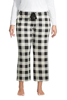 Women's Brushed Jersey Wide Leg Cropped Loungewear Bottoms