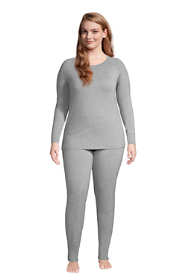 Women's Plus Size Lounge Pajama Set Long Sleeve T-shirt and Slim Leg Pants