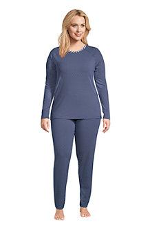 Women's Brushed Jersey Slim Leg Loungewear Pyjamas