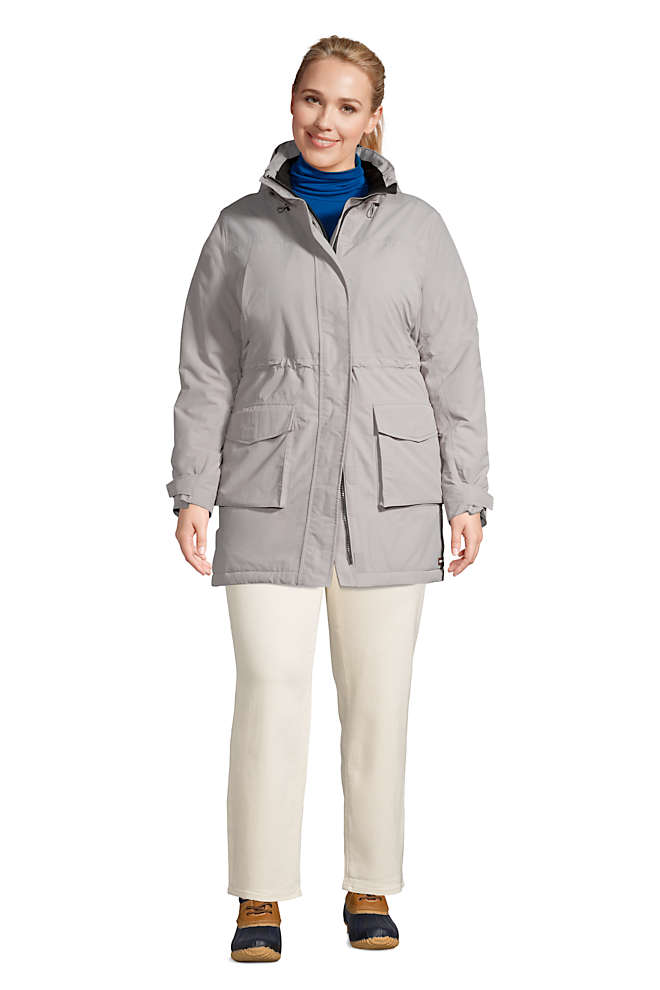 Women's Plus Size Squall Insulated Waterproof Winter Parka Coat with Hood, Front
