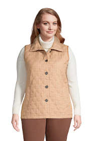 Women's Plus Size Insulated Packable Quilted Barn Vest Print