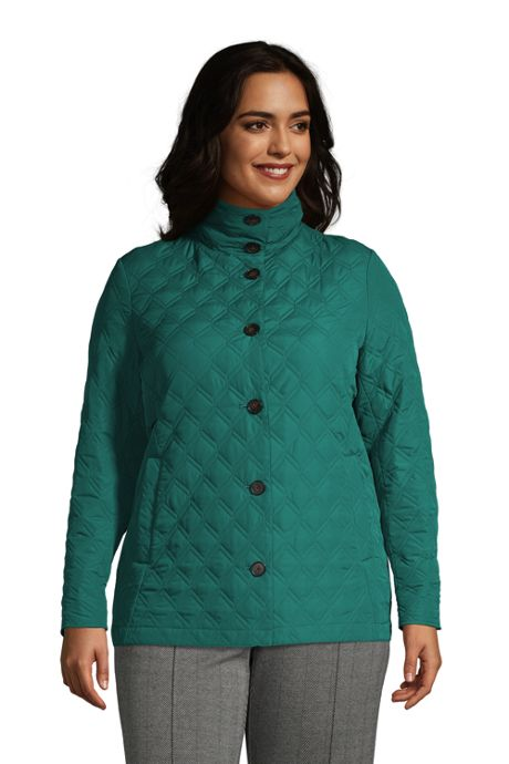 Women's Plus Size Petite Insulated Packable Quilted Barn Jacket