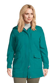 Women's Plus Size Squall Waterproof Raincoat with Hood