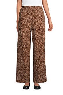 Women's Cotton Modal High Waisted Wide Leg Trousers