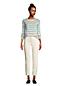 Jean Droit Strech 7/8 Taille Haute Naturel, Femme Stature Standard