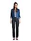 Jean 7/8  Water Conserve Droit Taille Haute Indigo, Femme Stature Petite