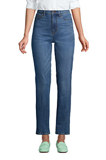Women's High Waisted Water Conserve Jeans, Straight Leg