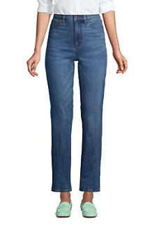 Knöchellange Straight Fit Öko Jeans High Waist für Damen