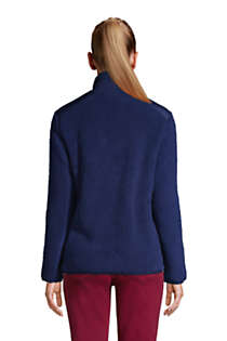 Women's Cozy Sherpa Fleece Jacket, Back
