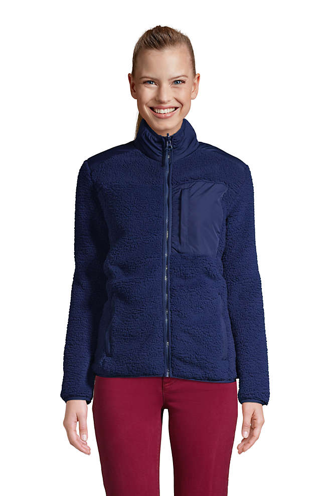 Women's Cozy Sherpa Fleece Jacket, Front