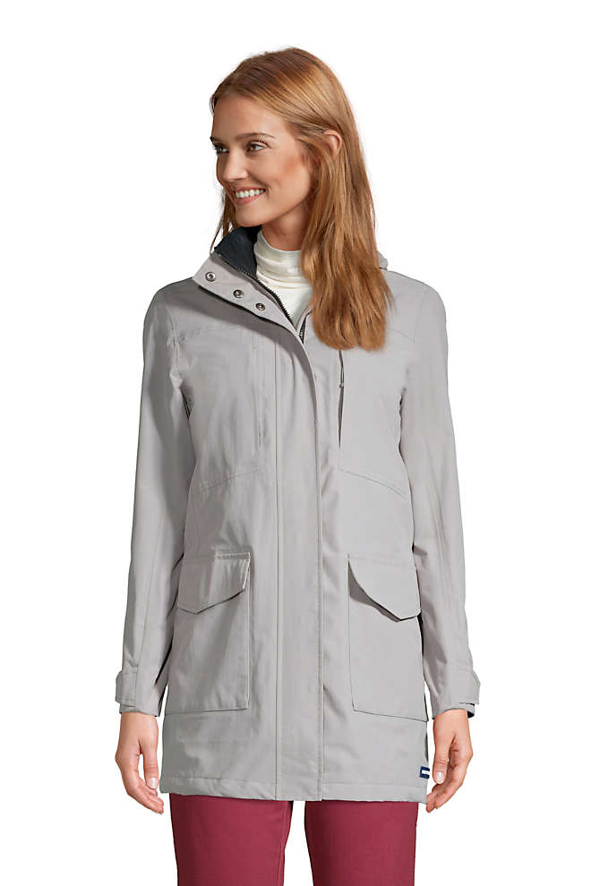 Women's Squall Waterproof Raincoat with Hood, Front