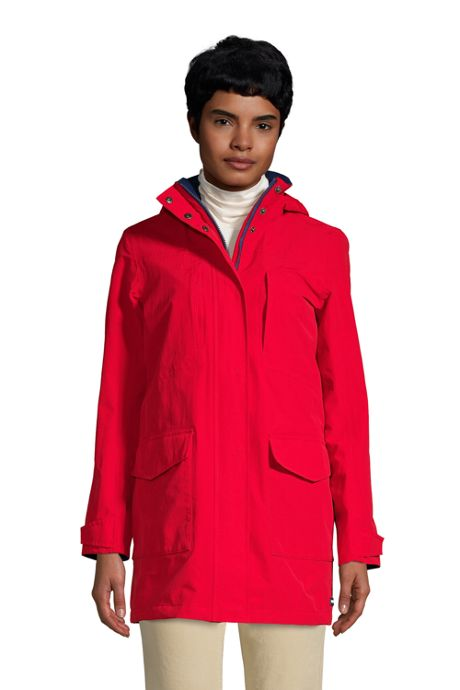 Women's Petite Squall Waterproof Raincoat with Hood
