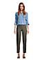 Farbige Straight Fit Jeans High Waist für Damen in Petite-Größe