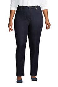 Women's Plus Size High Rise Straight Leg Ankle Blue Jeans
