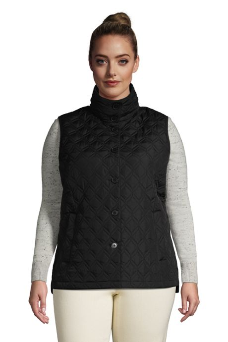 Women's Plus Size Insulated Packable Quilted Barn Vest