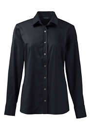 Women's Petite Long Sleeve No Gape Stretch Shirt