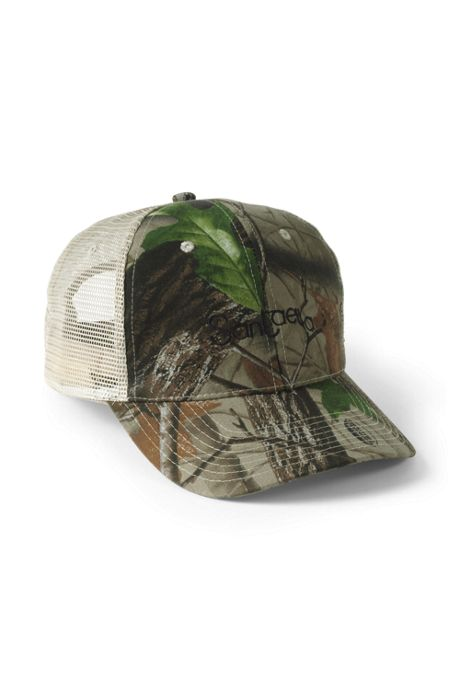 Unisex Real Tree Hardwood Mesh Trucker Cap
