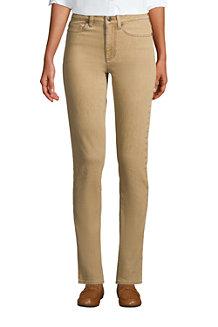 Farbige Straight Fit Jeans Mid Waist für Damen