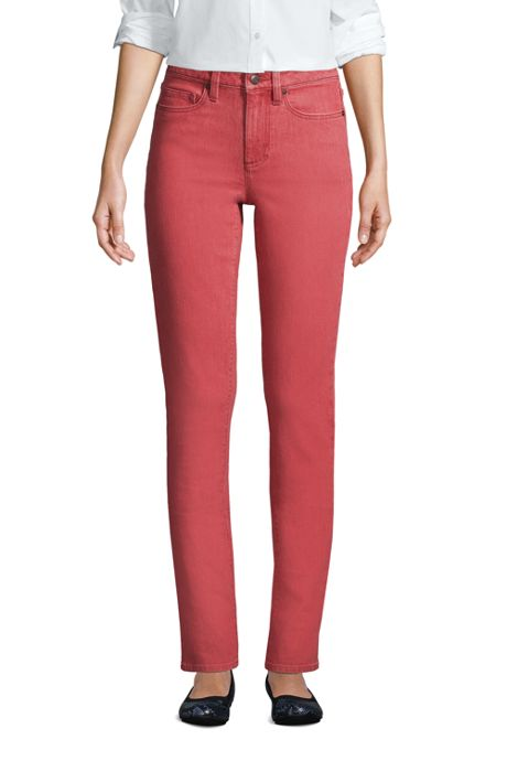 Women's Tall Mid Rise Straight Leg Jeans Color