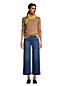 Jean Large 7/8 Stretch Taille Mi-Haute, Femme Stature Standard