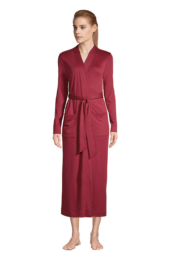 Women's Supima Cotton Long Robe, Front