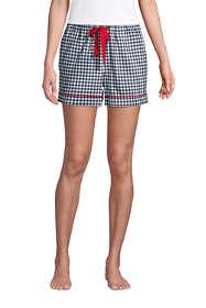"Women's 4"" Flannel Pajama Shorts"