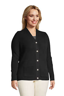 Women's Plus Size Cotton Cable Drifter Shaker Cardigan Sweater, alternative image