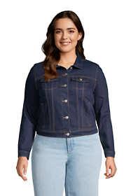 Women's Plus Size Denim Trucker Jacket