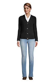 Women's Tall Cotton Cable Drifter Shaker Cardigan Sweater, alternative image