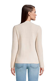 Women's Tall Cotton Cable Drifter Shaker Cardigan Sweater, Back