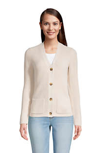 Women's Tall Cotton Cable Drifter Shaker Cardigan Sweater, Front