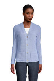 Women's Tall Cotton Cable Drifter Cardigan Sweater