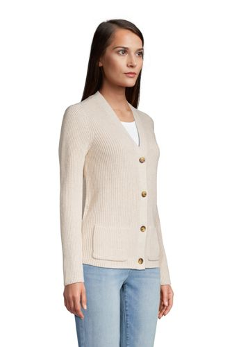 Women's Tall Drifter Cotton Shaker Cardigan Sweater