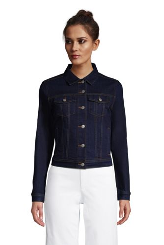 Women's Petite Denim Trucker Jacket