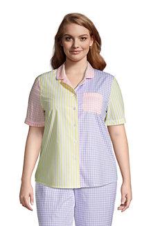 Popelin-Pyjamahemd für Damen