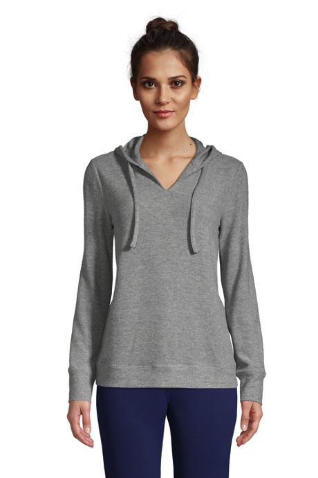 Women's Lounge V-Neck Cozy Pullover Hoodie