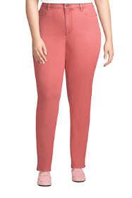 Women's Plus Size Mid Rise Straight Leg Jeans Color