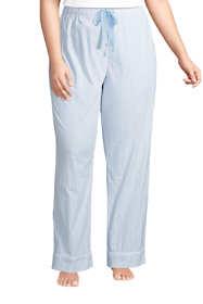 Women's Plus Size Cotton Poplin Pajama Pants
