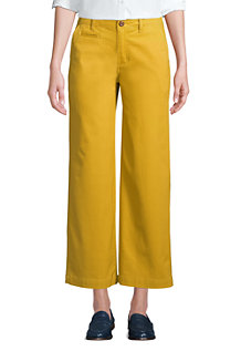 Women's Mid Rise Wide Leg Stretch Cotton Chinos