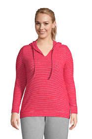 Women's Plus Size Lounge V-Neck Cozy Pullover Hoodie