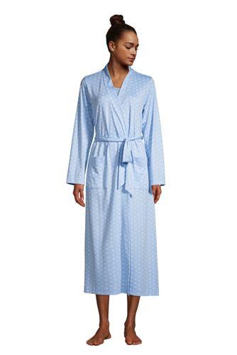 Robe de Chambre en Coton Supima à Motifs, Femme Grande Taille