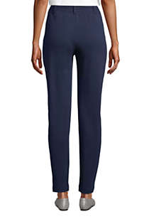 Women's Tall Sport Knit High Rise Elastic Waist Pull On Tapered Trousers, Back