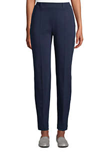 Women's Tall Sport Knit High Rise Elastic Waist Pull On Tapered Trousers, Front
