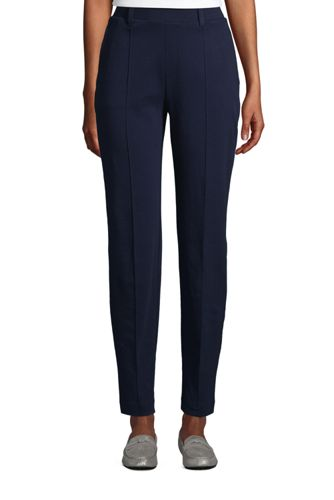Women's Petite Sport Knit Pull On Tapered Trousers