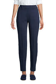 Women's Tall Sport Knit High Rise Elastic Waist Pull On Tapered Trousers