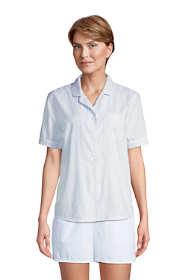 Women's Short Sleeve Cotton Poplin Pajama Shirt
