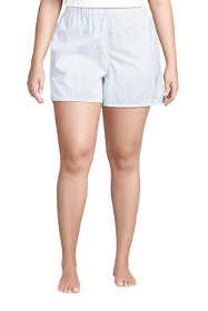 Women's Plus Size Cotton Poplin Pajama Shorts